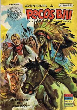 pecos bill,bandes dessinées de collection,bd 1955,le presse magazine 1955,susan morgan,bananes,tumeur estomac,ponchatoula