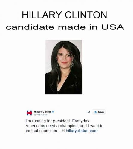 hillary clinton,monica lewinsky,élection américaine 2016,présidentielles usa