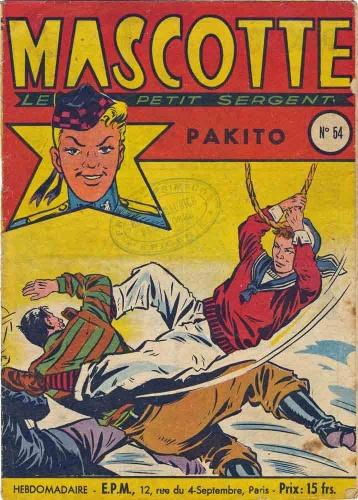mascotte,Éditions populaires modernes,bd,bandes dessinées des années 1950,bd de collection,doc jivaro,bar zing,les tarzanides du grenier