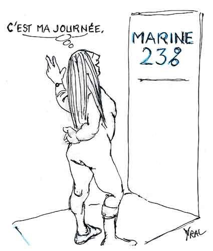 Marine Le Pen,journée de la femme