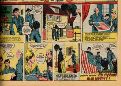 bd,bandes dessinées de collection,donald,les aventures de dick,george washington,betsie ross,paul winkler,franc maçonnerie,donald trump,drapeau américain,États-unis d'amérique