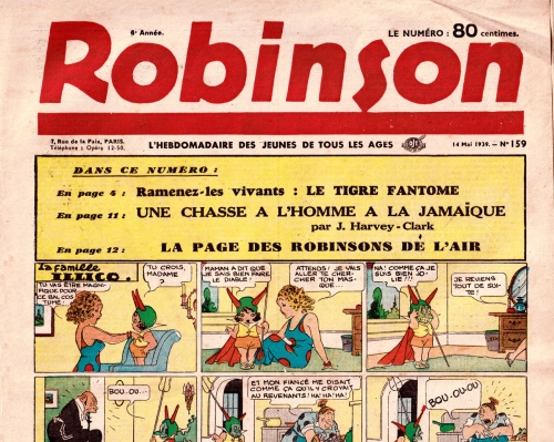 Robinson,famille Illico,Mac Mcmanus,Opéra Mundi,bandes dessinées de collection,Bar Zing,Doc Jivaro,Tarzanides,