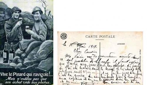 guerre 1914-1918-carte postale 1917,anciens combattants