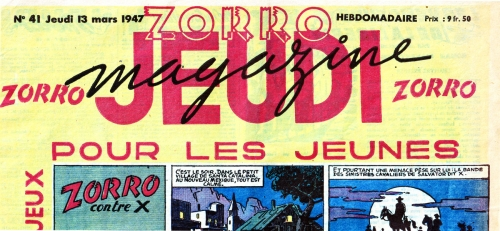 Zorro,Jeudi Magazine,lutte des classes,bandes dessinées de collection,Bar Zing,Doc Jivaro,Tarzanides,