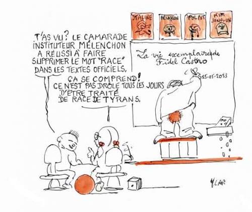 Jean-Luc Mélenchon,races humaines,journal officiel,Front de Gauche,Fidel Castro,