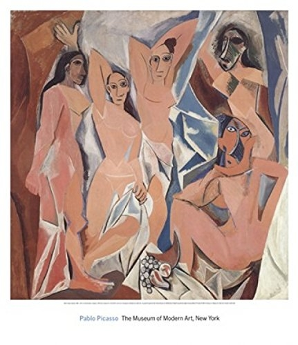 Gilets noirs,Picasso,art nègre,les demoiselles d'Avignon,cubisme,huile sur toile, 244 × 234 cm, Paris, atelier du Bateau-Lavoir, fin 1906 - juillet 1907