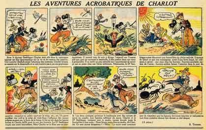 BD, bandes dessinées anciennes, Charlot, l'As,Société Parisienne d'Edition,Raoul Thomen,1948