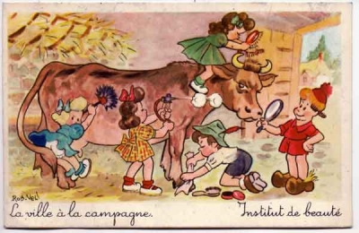 Carte postale,carte postale ancienne,illustration,ROB VEL,