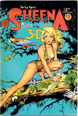 Hurrah !,Sheena,panthère blonde,3 D,Will Eisner,Jerry Ifer's,Tarzella,Rex Maxon,BD,bandes dessinée de collection,