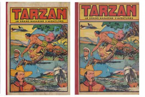 le rallic,rené giffey,cono del duca,coq hardi,tarzan,editions mondiales,bd,bandes dessinée de collection