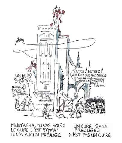 prières islamiques dans la rue française,rémi muzeau,les socialo communistes et l'islam,besancenot,yann moix,cathédrales islamisées,patrimoine culturel