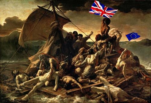 brexit,theresa may,donald tusk,parlement européen,l'ue,rosbif,grande bretagne,géricault,radeau de la méduse
