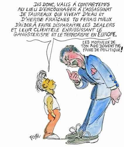 Manuel Valls,tauromachie,corrida,anti corrida,BFMTV-RMC