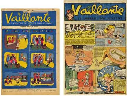 vaillant,vaillante,gire,jeannette thorez,bandes dessinées de collection,imprimerie de saux,madeleine bellet,henri créspi
