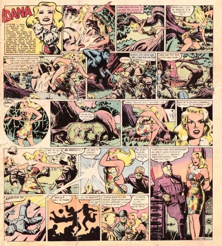 les aventures de paris jeunes,loana,carlo marc,censure loi de 1949,bandes dessinées de collection,tarzanides du grenier,doc jivaro,bar zing de montluçon