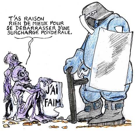 CRS,grève de la faim