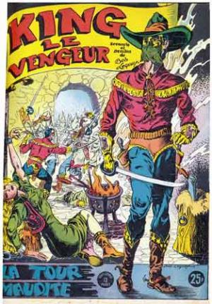 king le vengeur,giordan,tarzan,censure,hogarth,tarzanide,héros masqués,publi voq,bob leguay,bd,bédé ancienne,illustrés pour enfants