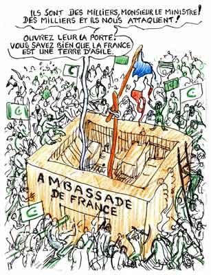 Syrie,Damas,ambassade de France,violentes attaques en Syrie