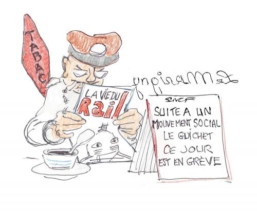 sncf billets de train,buraliste et cheminot,pepy cgt,appel grève générale