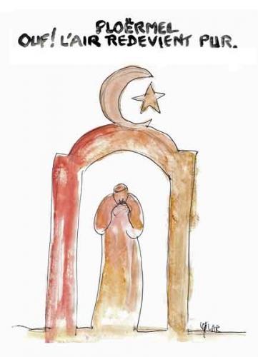 ploërmel,france morbihan,statue jean-paul deux,laïcards pour l'islam,islamo gauchisme
