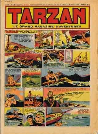 bd,bandes dessinées de collection,doc jivaro,tarzan,l'intrépide,coq hardi,illustrés pour enfants années 1950,rené giffey,duck hurricane,ecole voltaire de montluçon