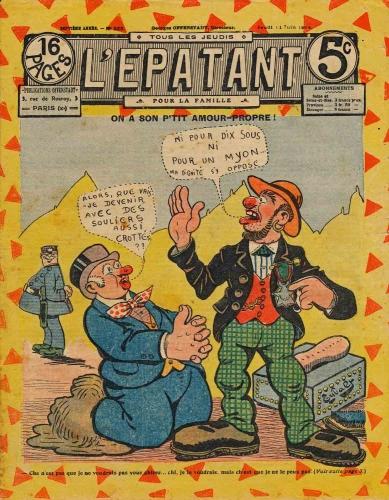 l'épatant,les pieds nickelés,cirque pinder,charbon et vin,doc jivaro,bar zing de montluçon,bd anciennes,bandes dessinées de collection