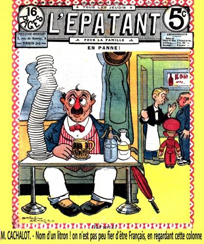 l'épatant 1914,carafon chien d'ivrogne,jo vallé,la butte rouge,tarzanides du grenier,bandes dessinées de collection,doc jivaro,bar zing de montluçon,fillette vin rouge