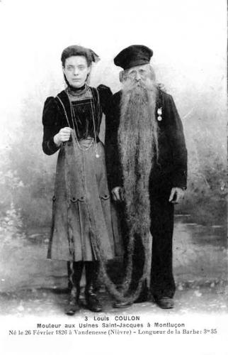 père coulon,personnalité montluçonnaise,record de longueur de barbe