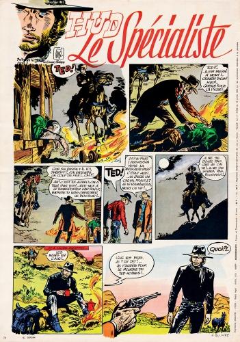 Johnny Halliday Sergent Smet,Hud Le Spécialiste,Johnny BD 1970,Gillain Jijé,Doc Jivaro,bandes dessinées de collection,