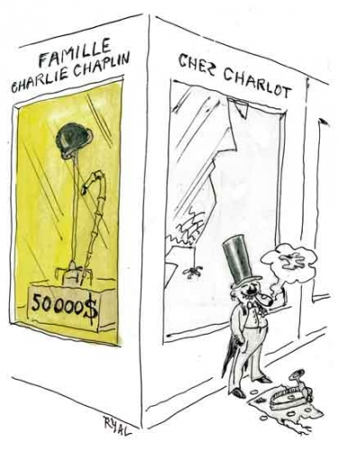 Charlie Chaplin,canne et chapeau melon Charlie Chaplin,cinéma,cinéma muet,Los Angeles,vente aux enchères souvenirs Chaplin,