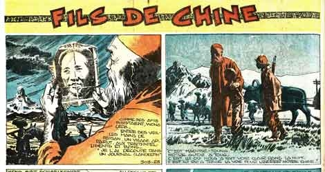 vaillant,fils de chine,paul gillon,mao tsé toung,urss,usa,bd,bandes dessinées de collection,guerre froide,tarzandies,bar zing