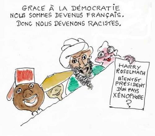 Harry Roselmach,Libération,RMC,Le Monde,Taubira,racisme,démocratie