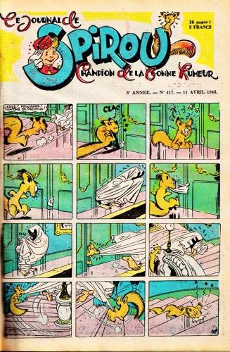 spirou 1946,spip l'écureuil,marsupilami,rob vel,franquin,bandes dessinées de collection,tarzanide du grenier,doc jivaro