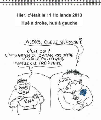corémonie 11 novembre,François Hollande,impopularité Hollande,mécontentement populaire,