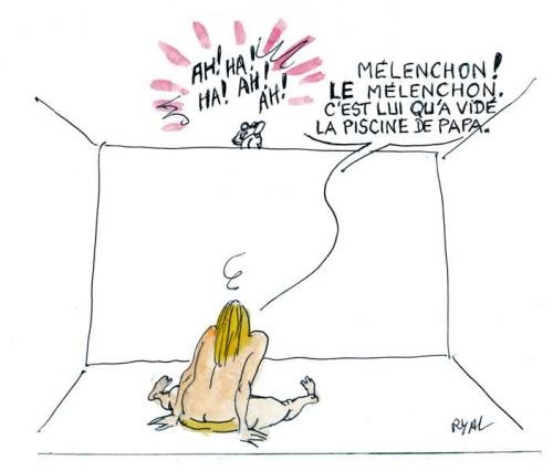 Marine Le Pen,Jean-Luc Mélenchon,chute de Marine Le Pen