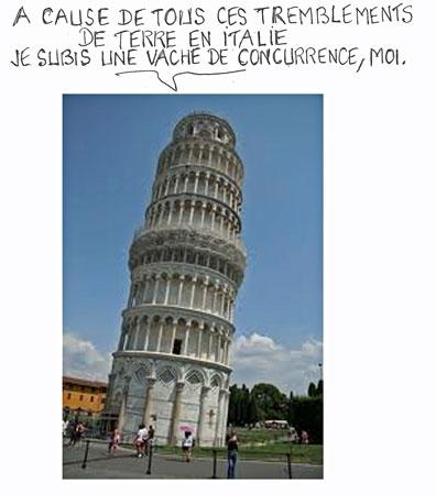 Italie,Tremblements de terre,tourisme,tour de pise,