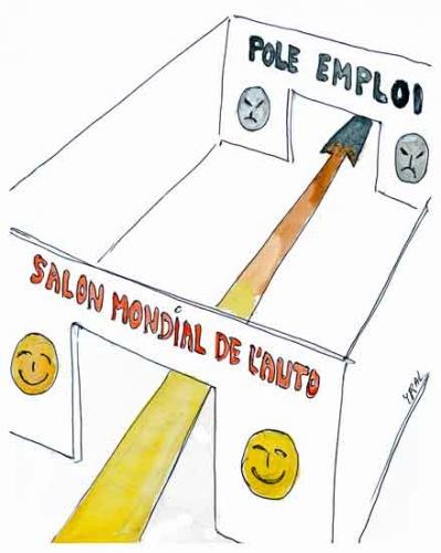 Salon mondial de l'automobile,automobile,industrie automobile française,chômage,pôle emploi