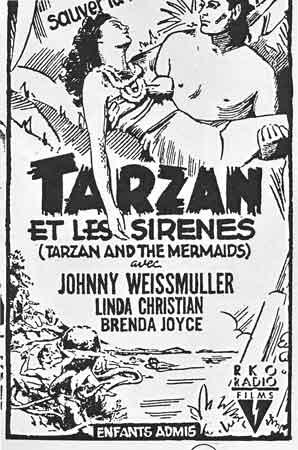 tarzan,tarzanide,Tarzan et les sirènes,Tarzan défenseur de la jungle,cinéma