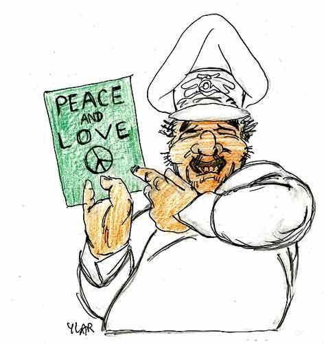 Libye,kadhafi,paix,dessin humoristique