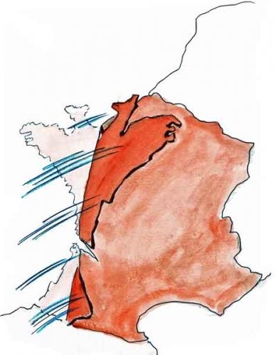 tempête hivernale,tempête en France,tempête Joachim