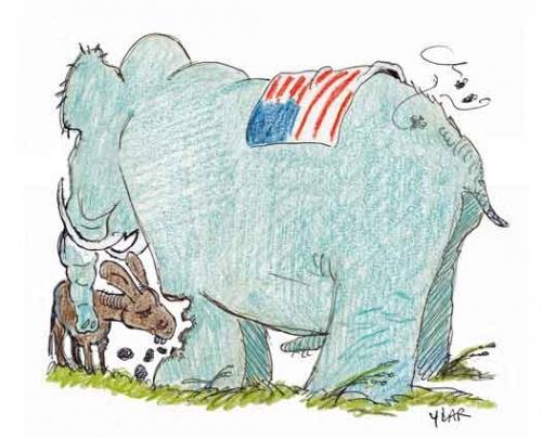 trump,migrants clandestins,l'âne et l'éléfaon,jean de la fontaine,midterms,nbc,ilahan omar,rashida tlaib,frères musulmans,le ver dans le fruit,démocrates et républicains