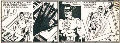 Un simple brûleur de gaz peut provoquer des effets extraordinaires et corriger la timidité chez certains messieurs malingres. La preuve par ces trois vignettes extraites d'une bande dessinée année 1948.