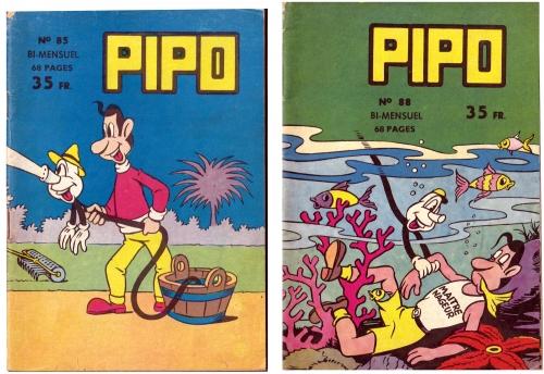 pipo,editions lug 1956,mendès france,le concombre masqué,bandes dessinées de collection,doc jivaro,tarzanide du grenier