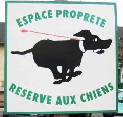 chiens,espace propreté,
