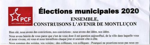 PCF,Montluçon,tract politique,Martinez,CGT,
