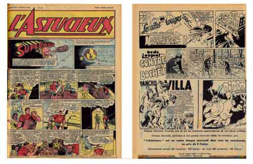 l'astucieux,biffalo bill,tarzan,editions mondiales,bd,bandes dessinées de collection,presse illustrée