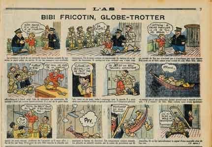 bibi fricotin,société parisienne d'édition,s.p.e.,pellos,offenstadt,l'as,pieds nickelés,tarzanides du grenier,doc jivaro