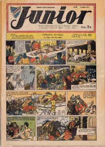 éditeur soleil,tarzan,junior,bd,bandes dessinées anciennes,bandes dessinées de collection