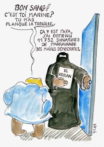 Marine Le Pen,candidature présidentielle,parrainages,élection présidentielle 2012,