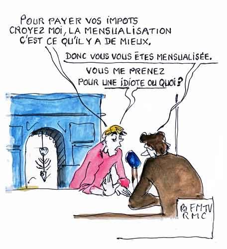 Valérie Pécresse,Jean-Jacques Bourdin,BFM TV,RMC,mensualisation des impôts